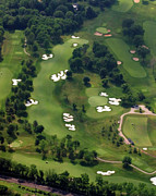 Aerials Of Philly Cricket Photo Framed Prints - Philadelphia Cricket Club Militia Hill Golf Course 6th Hole Framed Print by Duncan Pearson