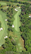Aerials Of Philly Cricket Prints - Philadelphia Cricket Club Militia Hill Golf Course 7th Hole Print by Duncan Pearson