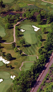 Aerials Of Philly Cricket Prints - Philadelphia Cricket Club Militia Hill Golf Course 9th Hole Print by Duncan Pearson