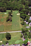 Aerial Photography Originals - Philadelphia Cricket Club St Martins Golf Course 1st Hole 415 W Willow Grove Avenue Phila PA 19118 by Duncan Pearson