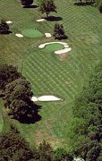 Aerial Books Prints - Philadelphia Cricket Club St Martins Golf Course 2nd Hole 415 W Willow Grove Ave Phila PA 19118 Print by Duncan Pearson