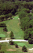 Aerial Books Prints - Philadelphia Cricket Club St Martins Golf Course 4th Hole 415 W Willow Grove Ave Phila PA 19118 Print by Duncan Pearson