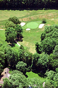 Aerials Of Philly Cricket Prints - Philadelphia Cricket Club St Martins Golf Course 5th Hole 415 W Willow Grove Ave Phila PA 19118 Print by Duncan Pearson