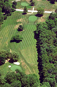 Aerial Books Prints - Philadelphia Cricket Club St Martins Golf Course 6th Hole 415 West Willow Grove Ave Phila PA 191118 Print by Duncan Pearson