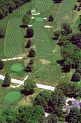 Aerial Books Prints - Philadelphia Cricket Club St Martins Golf Course 7th Hole 415 W Willow Grove Ave Phila PA 19118 Print by Duncan Pearson