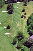 Aerial Books Prints - Philadelphia Cricket Club St Martins Golf Course 8th Hole 415 W Willow Grove Ave Phila PA 19118 Print by Duncan Pearson
