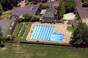 Aerials Of Philly Cricket Prints - Philadelphia Cricket Club St Martins Pool 415 West Willow Grove Avenue Philadelphia PA 19118 4195 Print by Duncan Pearson