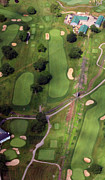 Aerials Of Philly Cricket Photo Framed Prints - Philadelphia Cricket Club Wissahickon Golf Course 11th Hole Framed Print by Duncan Pearson