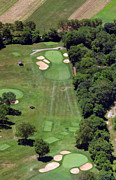 The Philadelphia Cricket Club Wissahickon Militia Hill And St Martins Golf Courses Framed Prints - Philadelphia Cricket Club Wissahickon Golf Course 15th Hole Framed Print by Duncan Pearson