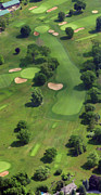 The Philadelphia Cricket Club Wissahickon Militia Hill And St Martins Golf Courses Framed Prints - Philadelphia Cricket Club Wissahickon Golf Course 17th Hole Framed Print by Duncan Pearson