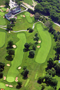 The Philadelphia Cricket Club Wissahickon Militia Hill And St Martins Golf Courses Framed Prints - Philadelphia Cricket Club Wissahickon Golf Course 18th Hole Framed Print by Duncan Pearson