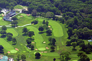 Aerials Of Philly Cricket Framed Prints - Philadelphia Cricket Club Wissahickon Golf Course 1st and 18th Holes Framed Print by Duncan Pearson