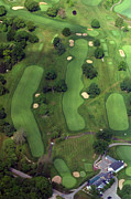 Aerials Of Philly Cricket Photo Framed Prints - Philadelphia Cricket Club Wissahickon Golf Course 1st Hole Framed Print by Duncan Pearson