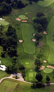 Aerials Of Philly Cricket Photo Framed Prints - Philadelphia Cricket Club Wissahickon Golf Course 5th Hole Framed Print by Duncan Pearson