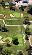 The Philadelphia Cricket Club Wissahickon Militia Hill And St Martins Golf Courses Framed Prints - Philadelphia Cricket Club Wissahickon Golf Course 8th Hole Framed Print by Duncan Pearson