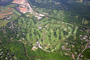 Aerials Of Philly Cricket Prints - Philadelphia Cricket Club Wissahickon Golf Course Flourtown Print by Duncan Pearson