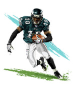 Sport Artist Digital Art Prints - Philadelphia Eagle DeSean Jackson Print by David E Wilkinson