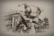 Philadelphia Digital Art Prints - Philadelphia Eagles at the Linc Print by Bill Cannon