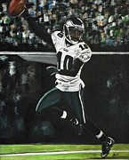 Philadelphia Painting Prints - Philadelphia Eagles DeSean Jackson Print by Kim Selig