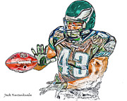 Leonard Digital Art - Philadelphia Eagles Leonard Weaver by Jack Kurzenknabe