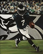 Football Paintings - Philadelphia Eagles Michael Vick by Kim Selig