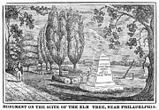 Penn Treaty Tree Framed Prints - Philadelphia: Elm Monument Framed Print by Granger