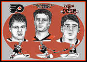 Flyers Drawings - Philadelphia Flyers Legion of Doom by Chris  DelVecchio