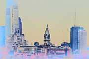 Philadelphia Digital Art Metal Prints - Philadelphia From South Camden Metal Print by Bill Cannon