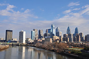 Cityscape Digital Art Metal Prints - Philadelphia from the South Street Bridge Metal Print by Bill Cannon