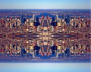 Photo Flights Art - Philadelphia Geometric Collage by Duncan Pearson