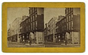Window Signs Art - Philadelphia In 1870. Chestnut Street by Everett