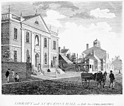Philadelphia Scene Photos - Philadelphia: Library, 1799 by Granger