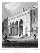 Philadelphia Street Framed Prints - Philadelphia Museum, 1831 Framed Print by Granger