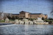 Centre Digital Art Prints - Philadelphia Museum of Art and the Fairmount Waterworks From Across the Schuylkill River Print by Bill Cannon