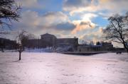 Philadelphia Digital Art Prints - Philadelphia Museum of Art at Winter Sunrise Print by Bill Cannon