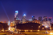 Benjamin Franklin Parkway Photos - Philadelphia Nightscape by Olivier Le Queinec