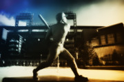 Stadium Digital Art Metal Prints - Philadelphia Phillie Mike Schmidt Metal Print by Bill Cannon