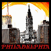Philadelphia City Hall Framed Prints - Philadelphia Poster Framed Print by Bill Cannon