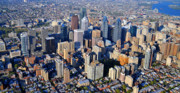 Aerial Photo Of Philadelphia Posters - Philadelphia Rittenhouse Squarea 0471 Poster by Duncan Pearson