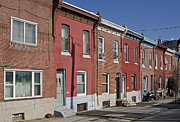 Philadelphia Metal Prints - Philadelphia Row Houses Metal Print by Brendan Reals