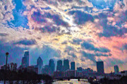 Philadelphia Digital Art Metal Prints - Philadelphia Sky Metal Print by Bill Cannon