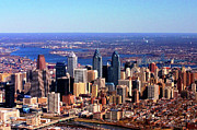 Philadelphia From The Air Prints - Philadelphia Skyline 2005 Print by Duncan Pearson