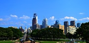Philadelphia City Hall Framed Prints - Philadelphia skyline 4 Art museum  Framed Print by Bener Kavukcuoglu