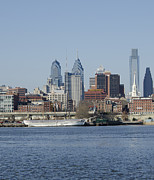 Philadelphia Photo Prints - Philadelphia Skyline Print by Brendan Reals