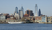 Philadelphia Photo Prints - Philadelphia Skyline from the Delaware River Print by Brendan Reals