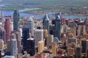 Philadelphia Skyline Framed Prints - Philadelphia Skyscrapers Framed Print by Duncan Pearson