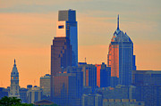 Philadelphia Digital Art Prints - Philadelphia Sunrise Print by Bill Cannon