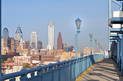 Ben Franklin Bridge Posters - Philadelphia View from the Ben Poster by Bill Cannon