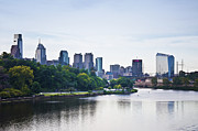 Philadelphia View From The Girard Avenue Bridge Print by Bill Cannon