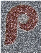 Mlb Mixed Media - Philidelphia Phillies Baseballs Mosaic by Paul Van Scott